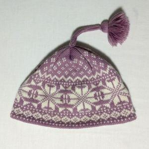 Obermeyer OS Pink White Fair Isle Beanie Hat